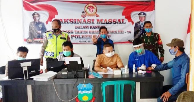 Pemerintah Desa Karyasari Banyuresmi Garut, Sukses Vaksinasi 508 Orang