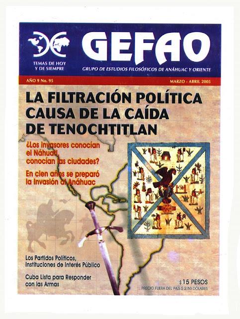 LA FILTRACION POLITICA  CAUSA DE LA CAIDA DE  TENOCHTITLAN