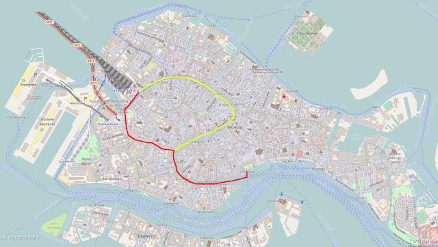 Bahnhof - San Marco via Rio Novo: rote Linie