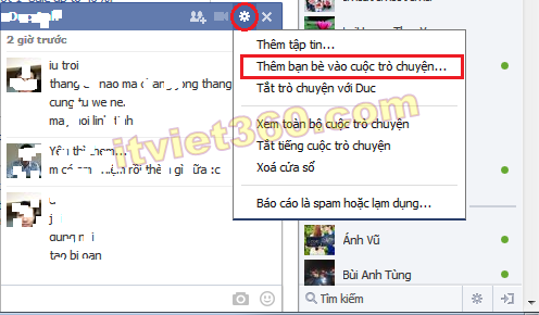 Chat group FB, Group chat on Facebook