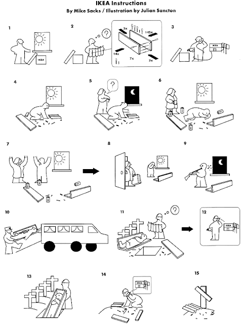 IKEA instructions - by Mike Sacks and Julian Sancton