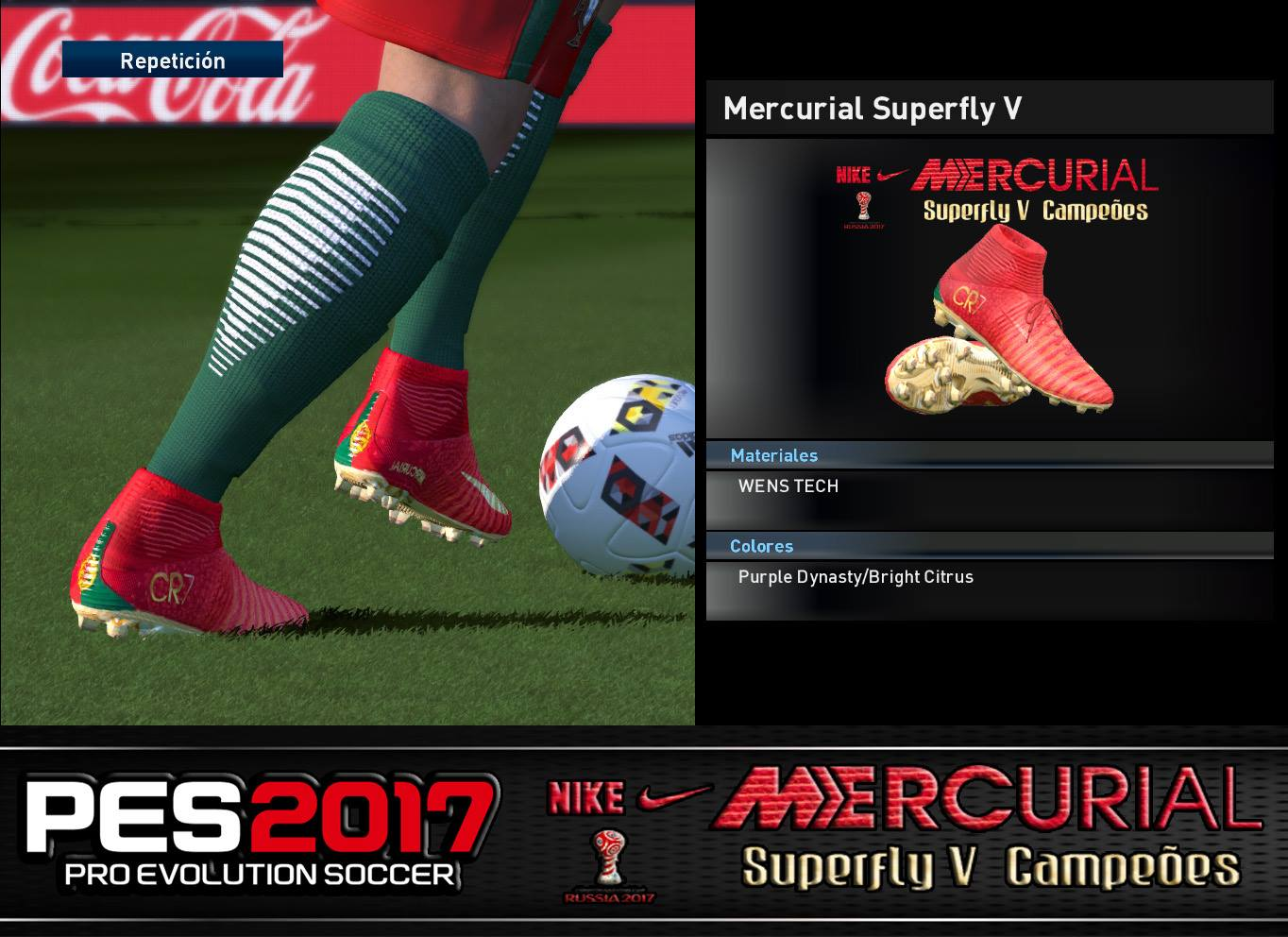 PES 2017 Nike Mercurial Superfly V Cristiano Ronaldo Campeões Boots by Jonathan Facemaker