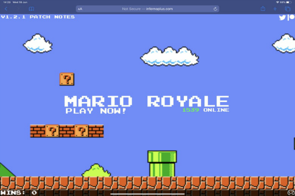 لعبة Mario Royale متوفرة على متصفحات الويب