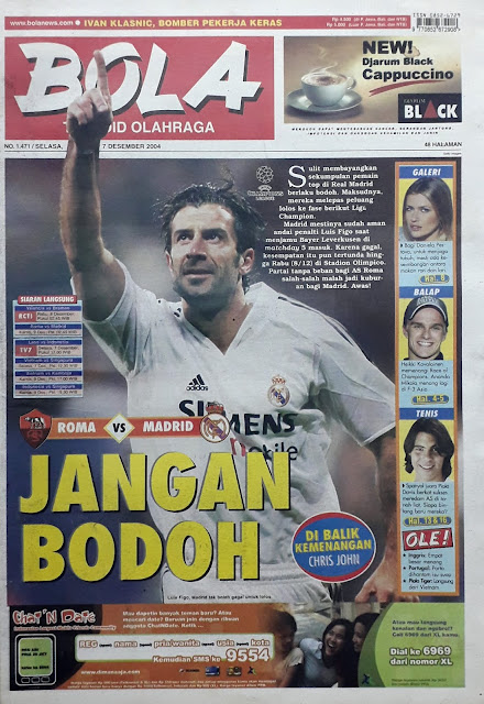 TABLOID BOLA: ROMA VS MADRID JANGAN BODOH