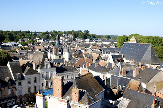Bella vista sui tetti di Amboise dal Palazzo Reale
