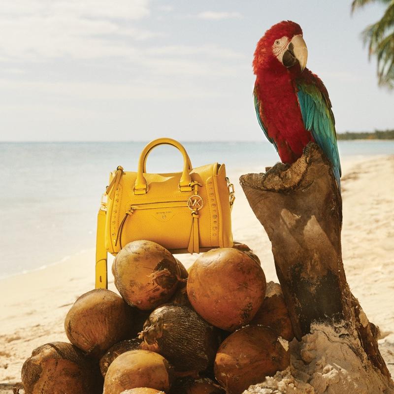 MICHAEL Michael Kors Carine handbag featured in summer 2020 campaign.