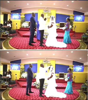 [PHOTOS] Wawwu!!! See What A Groom Did When It Was Time To Kiss His Bride At The Altar