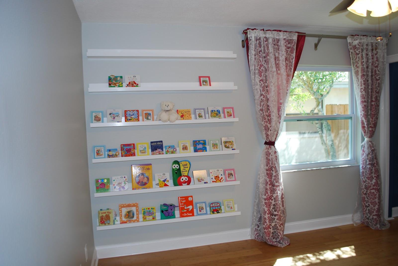 Nursery Room Book Shelves Gallery Ledges