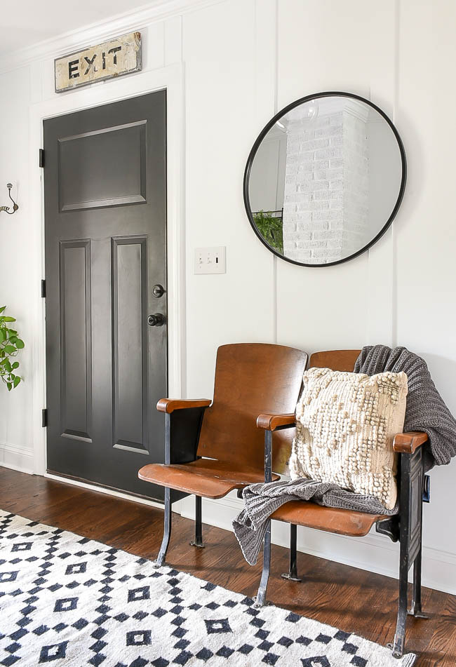 vintage modern mudroom decor