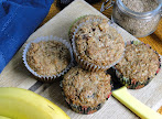 Bran Muffins on a table