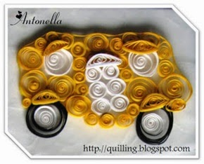 Free Quilled Quilling School Bus