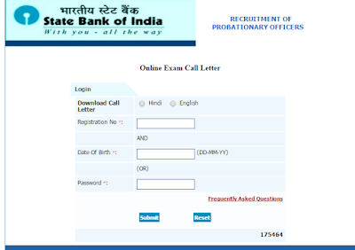SBI PO Preliminary Exam Call letter 2016 Download