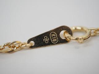 8/12(木)本日より通常営業 再開しております 18金ネックレスを買い取りました