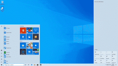 Tampilan Desktop Windows 10 Pro 20H2 (2009) Update Oktober 2020