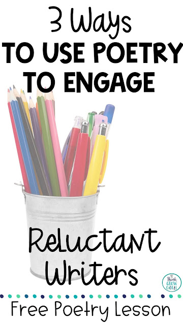 poetry activities for reluctant writers