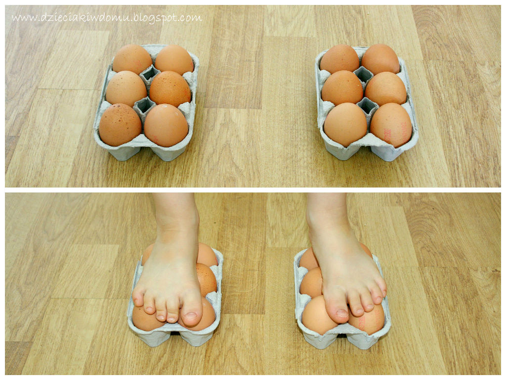 eksperyment z jajem dla dzieci - jak wytrzymałe jest jajo?
