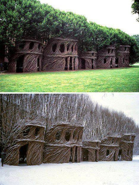 #12. The treehouses of Patrick Dougherty. - 19 Secret Travel Destinations You Never Knew Existed… Almost Nobody Knows About #17.