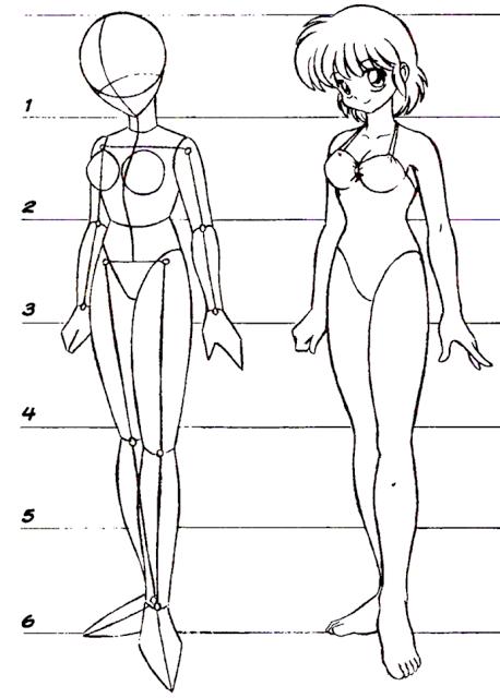 Como Desenhar Corpo De Mangas Femininos Arte No Papel Online