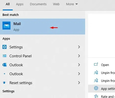 Adding an Email Account in the Windows 10