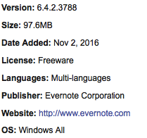 Free Download Evernote All Windows OS