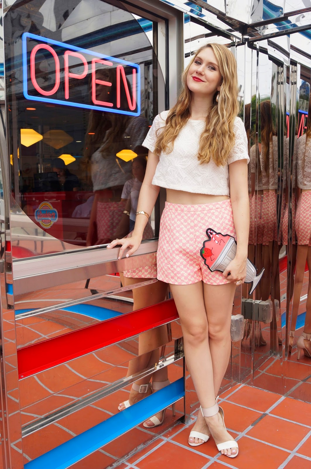 Cute Shorts and Crop Top Outfit for Summer