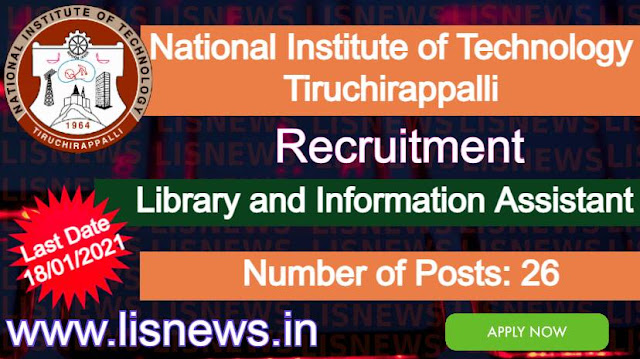 Library and Information Assistant at National Institute of Technology Tiruchirappalli