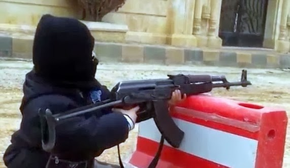 4 Year Child Al-Qaeda AK-47 In Syria