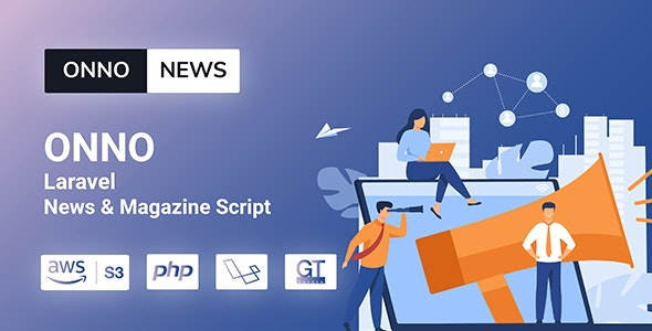 ONNO php script–Laravel News & Magazine Script