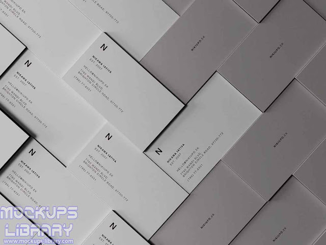 stacked business card psd