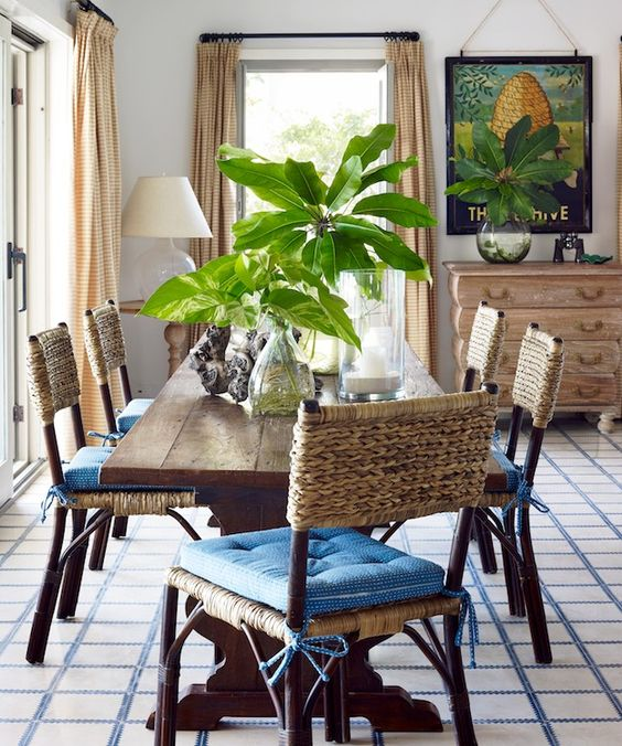 Colonial Dining Room: Coastal Colonial Dining Room