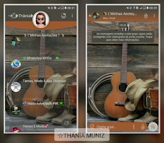 Guitar Theme For YOWhatsApp & Fouad WhatsApp By Thânia Muniz