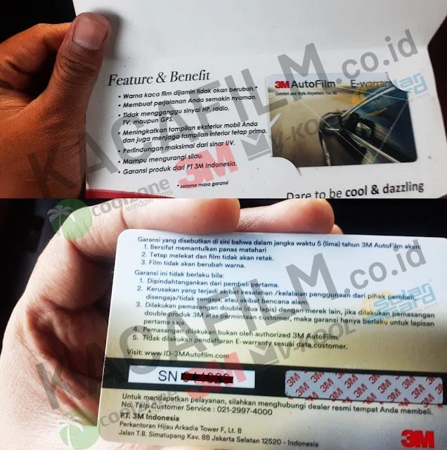 garansi resmi kaca film 3M untuk Ruangan di Banten