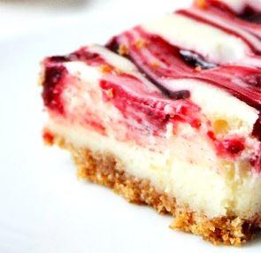Recipe Lemon Raspberry Cheesecake Bars #bars