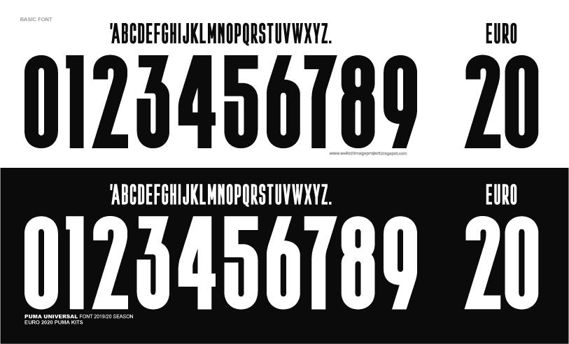 football teams shirt and kits fan basic puma universal euro 2020 font basic puma universal euro 2020 font