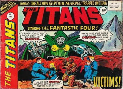Marvel UK, The Titans #29, Fantastic Four vs Dr Doom