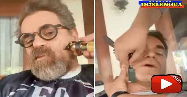 DEMENTE | Rafael Lacava muestra el momento en el que le cortan la barba