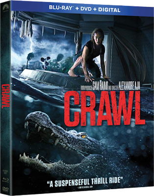 Blu-ray cover for Paramount's CRAWL - directed by Alexandre Aja and produced by Sam Raimi!