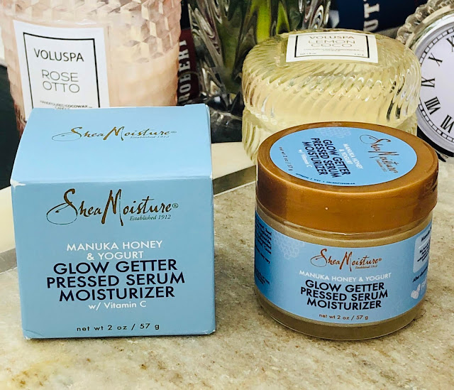 Shea Moisture Manuka Honey & Yogurt Glow Getter Pressed Serum Moisturizer | bellanoirbeauty.com