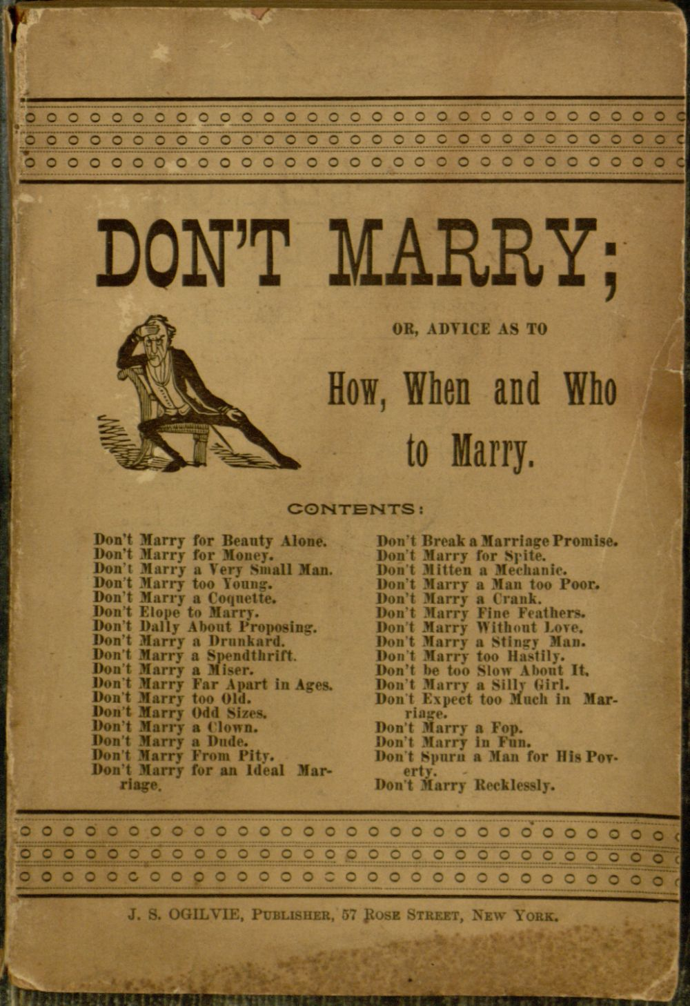 1891 Advice on How and Why (Not) to Marry