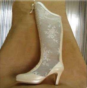 14de1fe17a4 Calzados para novias con encajes, clásico y botas - Reflejos ...