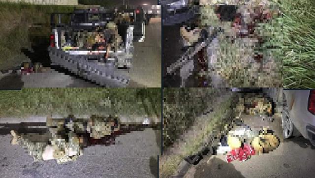 """Fotografias: """"El que a hierro mata a hierro muere"""" así quedaron los cuazitos de Las Tropas del Infierno vs Militares en Nuevo Laredo"""