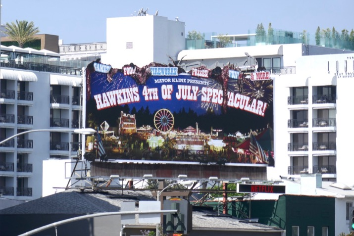 Stranger Things 3 Hawkins 4th July billboard