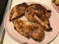 Picture of Completed Boneless Chicken Breast off of the Grill