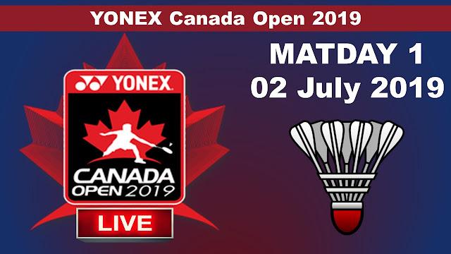 Live YONEX CANADA OPEN 2019