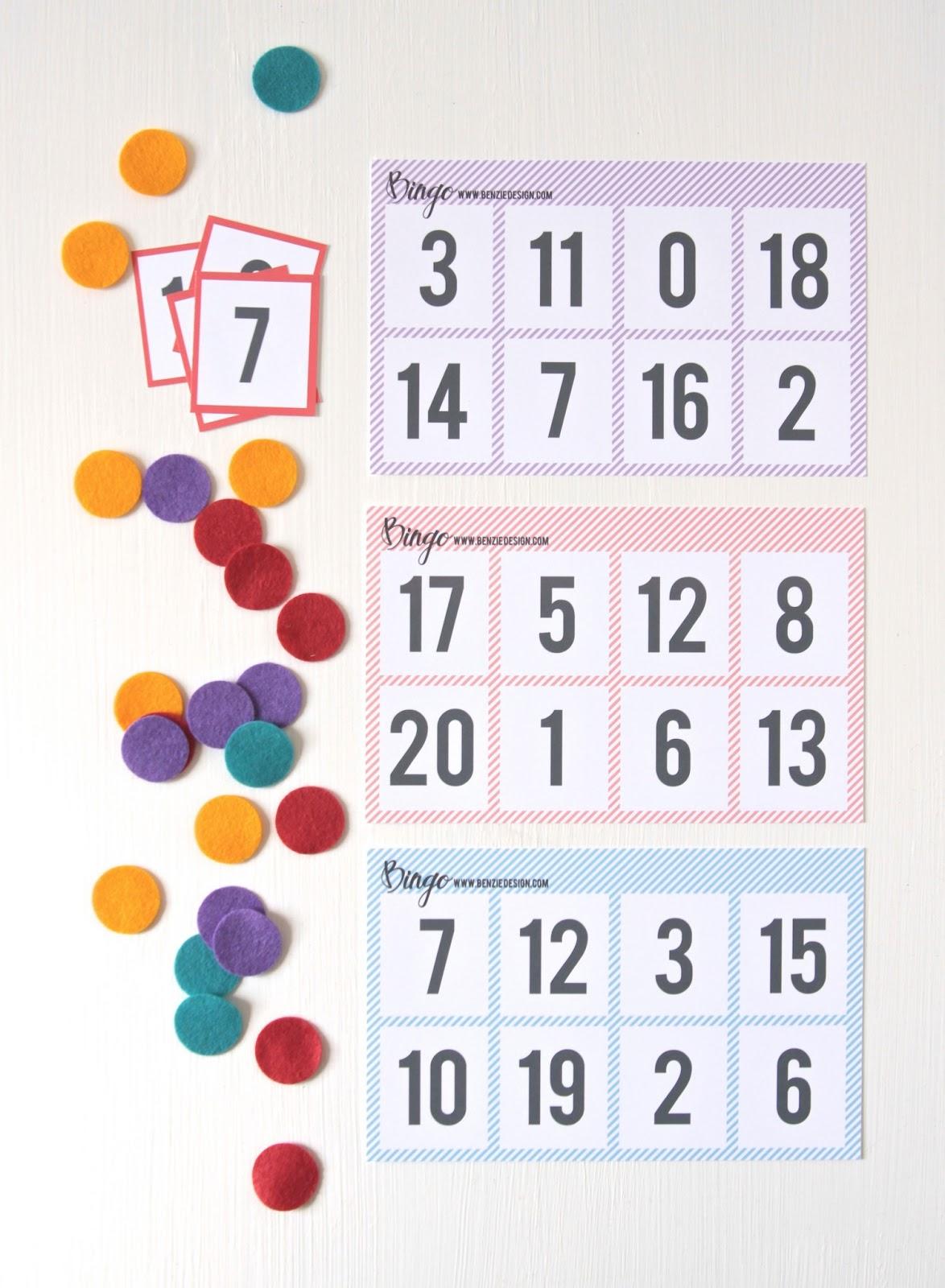 Benzie A Fanfare Of Felt Printable Number Bingo