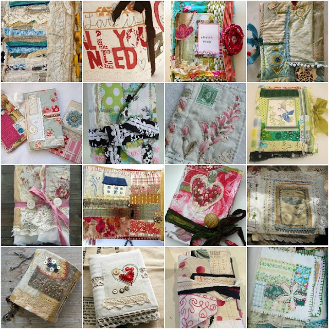 fabric journals pinterest inspiration
