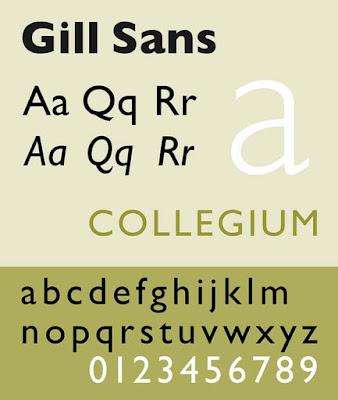 Gill Sans best cv font