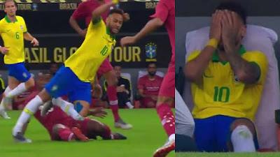 Lesión de Neymar Tobillo esguince frente a Qatar