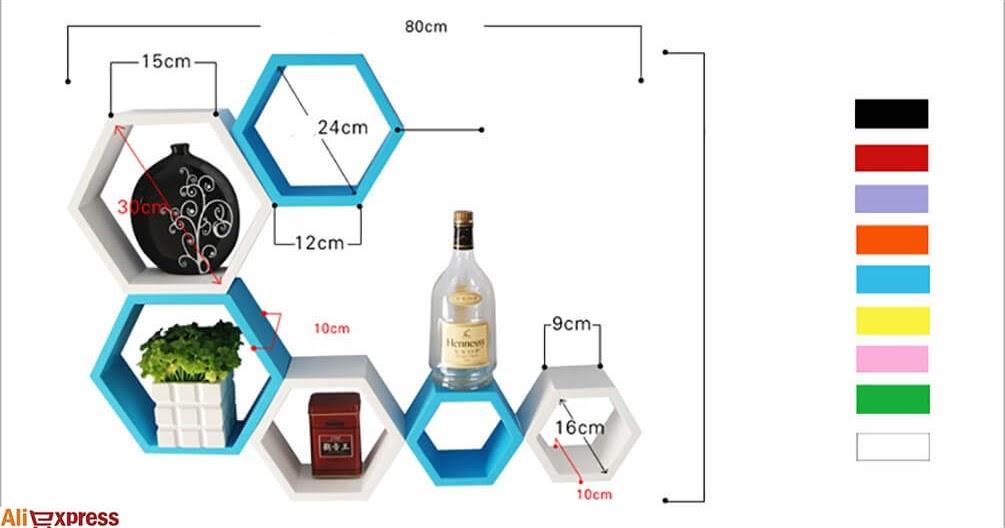 20 ideas geniales para construir una repisa hexagonal y for Curso de carpinteria en melamina pdf