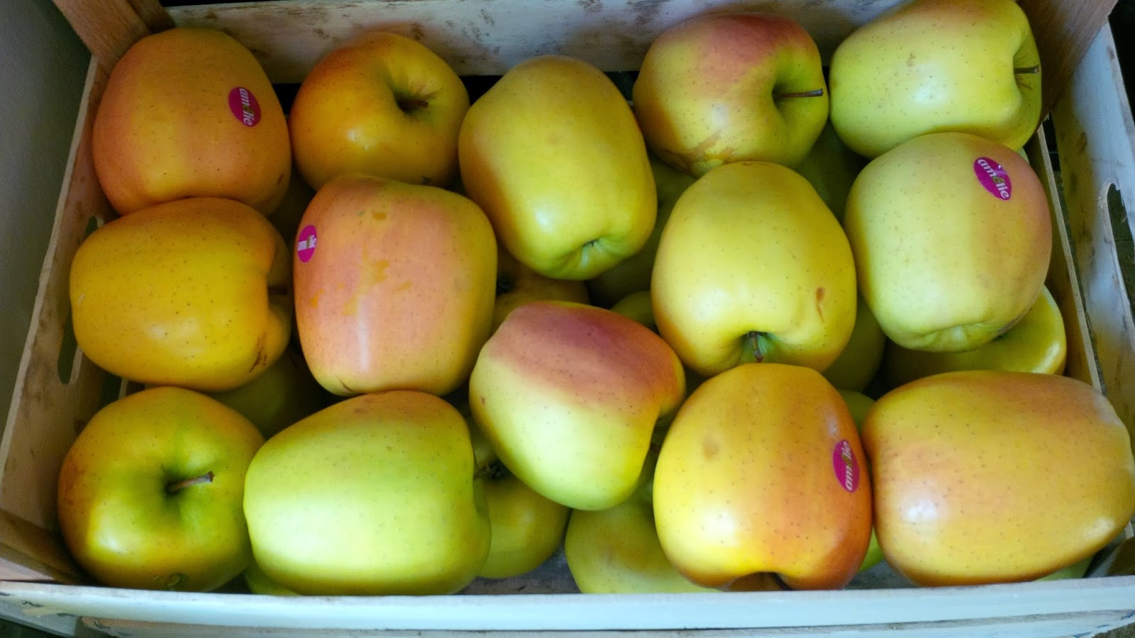 A crate of beautiful huge apples for under ten euro
